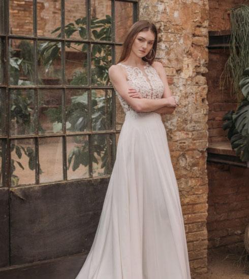 Vestido de novia de la firma Farasposa