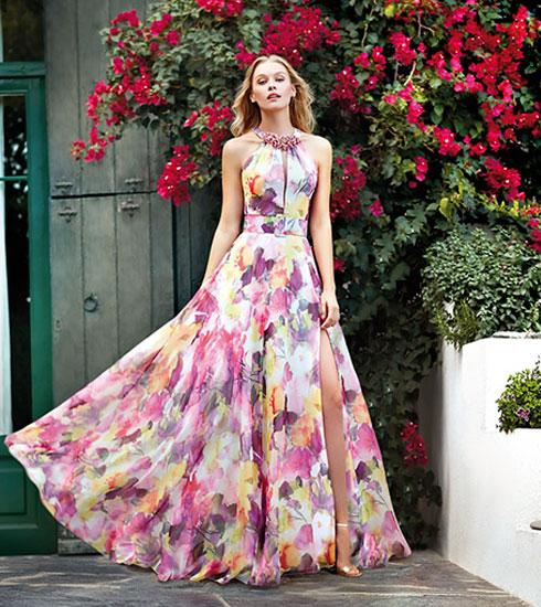 Vestido de fiesta de la firma Maria Lago
