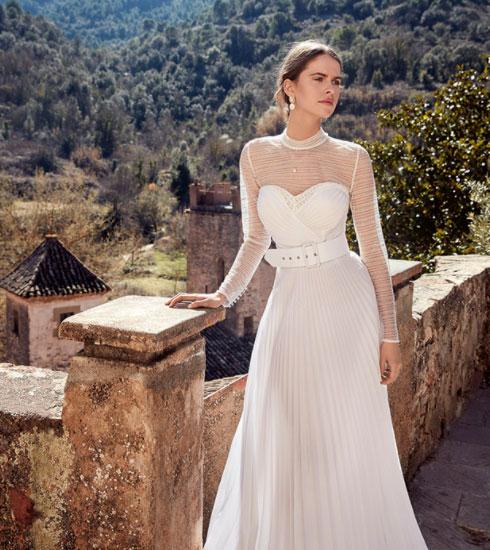 Vestido de novia de la firma Yolancris