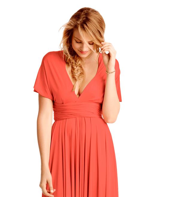 Chica con vestido de fiesta